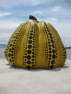 'Smashin Pumpkin' by Yayoi Kusama - Naoshima, Japan: this sculpture is perched at the end of a pier jutting into the Inland Sea. via Kate Morgan, lonelyplanet.com
