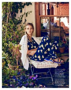 """Garden in My Heart"" Charlotte Nolting for Marie Claire Netherlands May 2015"