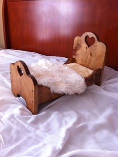 Wooden Doll Bed/Newborn Photo Prop Bed by TheBloomingBranche, $40.00