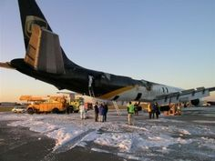 Cargo fires are a serious threat. This UPS DC-8 was lucky enough to get on the ground in Philadelphia before the aircraft was engulfed on February 8, 2006