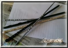 Uniquely Grace: Harry Potter Party, Ollivanders Wand Craft Tutorial - Harry Potter Post #2USE THESE FOR THE PARTY