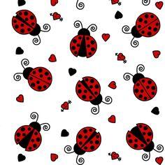 Love Bug Ladybugs fabric by jsdesigns on Spoonflower - custom fabric Wallpaper Ladybug Art, Ladybug Crafts, Scrapbook Paper, Scrapbooking, Lady Bug Tattoo, Class Decoration, Love Bugs, Cellphone Wallpaper, Baby Quilts