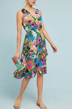Slide View: 1: Daphne Wrap Dress Anthropologie so pretty & flattering because of the wrap style!