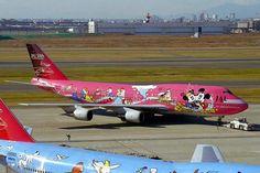 "Japan Airlines Boeing 747-446D JA8904 - JAL Dream Express No.2 ""Sweet"" at Tokyo-Haneda, circa 2001."