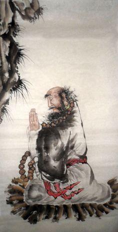 Bodhidharma (Father of Kung Fu and QiGong) Tamil Brahmin Prince and Buddhist Monk.