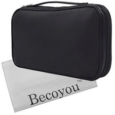 Makeup Organizer Bag, Becoyou Makeup Brush Organizer Makeup Case Professional Zipper Cosmetic Case for Travel & Home, Black *** More info could be found at the image url.