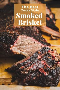 The BEST Texas Style Smoked Beef Brisket recipe. Just melts in your in your mouth after cooking in the smoker for about 15 hours. It is to die for and way easier than you might think. Beef Brisket Recipes, Smoked Beef Brisket, Best Beef Recipes, Best Smoked Brisket Recipe, Traeger Recipes, Smoked Meat Recipes, Bbq Beef, Brisket Meat, Brisket Sandwich