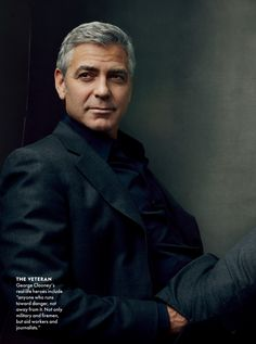 "George Clooney photo by Annie Leibovitz for Vanity Fair ""Hollywood's Leading Men"" editorial (February George Clooney, Business Portrait, Celebridades Fashion, Annie Leibovitz Photography, Actrices Hollywood, Hommes Sexy, Portrait Inspiration, Character Inspiration, Famous Faces"