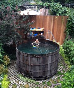 brownstone with pool in backyard - Google Search
