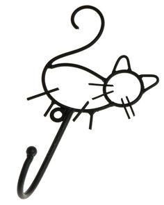 Kaunista kotiin - Naulakko kissa - Hyvän Tuulen Puoti  tää olis niin hyvä kissojen valjaille