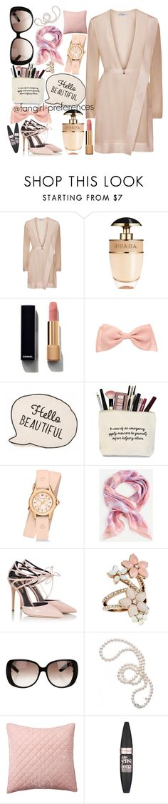 """Light"" by fangirl-preferences ❤ liked on Polyvore featuring Prada, Chanel, Michele, Fratelli Karida, Accessorize, Gucci, Mikimoto, Pottery Barn and Maybelline"