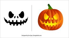 Great idea! Simple, #cool looking #stencil for a #pumpkin for #Halloween. Thanks, #internet