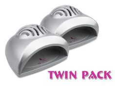 Twin Pack PROMOTION USpicy SEASHELL Portable Mini Fan Cute Size Handy Manicure Nail Dryer/Blower for Drying Nail Polish & Acrylic Nail(Silver, pack of 2)