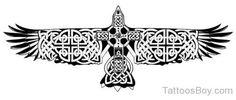 Celtic Bird Tattoo Design-Tb1203