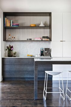 kitchen shelving contrast