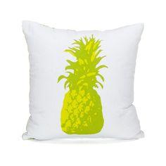 Coussin carré : l'ananas Vert - Ananas - Les coussins de jardin - Le textile de jardin et de plage - Jardin - Décoration d'intérieur - Alinéa