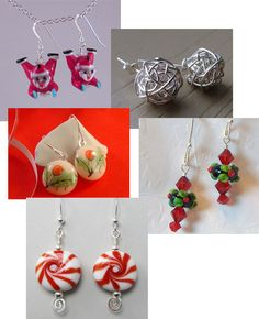 Image detail for -WANT, I NEED: Some cute handmade Christmas earrings | The Bag Lady