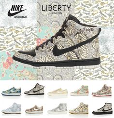 liberty london Nikes...the ones I wanted this year sold out before I could snag a pair