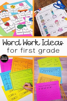 Looking for differentiated word work or spelling literacy centers for your first or 2nd grade classroom? These phonics word work ideas are easy to set up and will meet the needs of ALL of your students in your elementary classroom traditional or remote learning