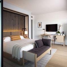 Hotel Victor Miami Beach, Florida Balcony Bedroom Luxury Scenic views Suite property home cottage condominium Villa living room #LuxuryBeddingOceanViews