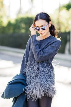 Feathered Sweater
