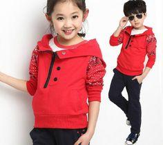 2016 New Fashion Kids Clothes Boys Jackets Set Hoodies Coats+Pants 2 pcs Baby Boy Clothing Set Boy Autumn Winter Clothes Sets $18.99