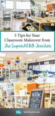 5 Tips for Your Classroom Makeover from The SuperHERO Teacher. 5 Tips for Your Classroom Makeover from The SuperHERO Teacher. Art Classroom Decor, Teacher Classroom Decorations, Classroom Setting, Classroom Setup, Classroom Design, Future Classroom, Classroom Organization, Classroom Environment, Preschool Classroom