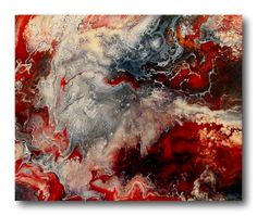 """New Original One of a kind Abstract Fluid Painting """"Good Versus Evil"""" 20"""" X 24"""" Painted by Dawn on Etsy, $500.00"""