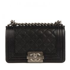 CHANEL Caviar Quilted Small Boy Flap Black ❤ liked on Polyvore featuring bags, handbags, leather flap handbag, shoulder bag purse, shoulder handbags, chanel handbags and chanel