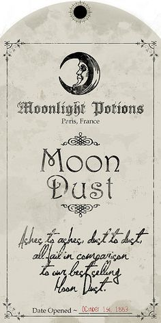Moon Dust Label by http://www.flickr.com/photos/lovemanor/2827600894/