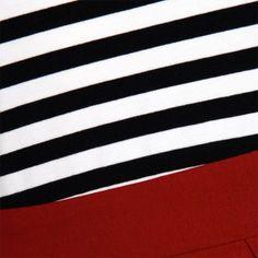 'Josefine' White Black Red Swing Dress
