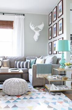 Coffee table (way fair) and sofa (west elm)
