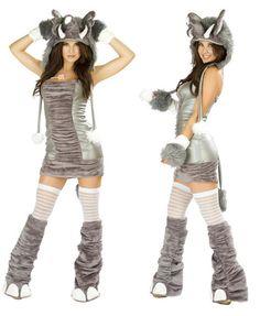 Elefante atractivo Onesie de patas pijamas Cheshire animal adulto Gato peludo con el traje de la cola de la Mujer de Halloween Disfraces Cosplay Piel