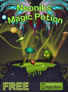 Love Slashing iPhone games?  Then our NEW FREE Neoniks Make the Magic Potion game is Perfect for you! :)