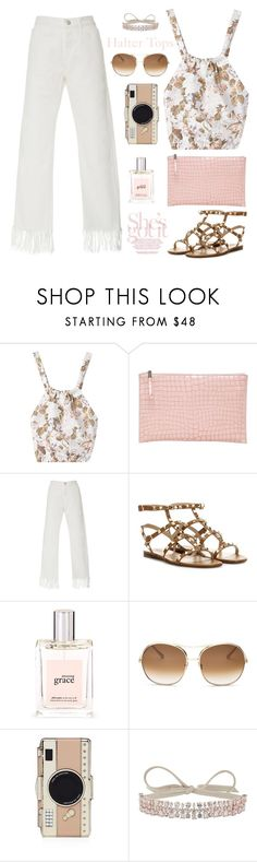 """""""Halter Tops"""" by barngirl ❤ liked on Polyvore featuring Rochas, 3x1, Valentino, philosophy, Chloé, Kate Spade and Fallon"""