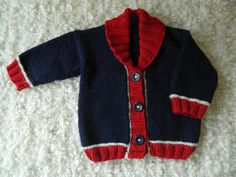 Вязание Baby Boy Little Man синий кардиган свитер с RodiAndSuzi