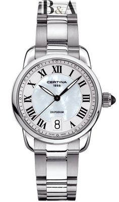Show details for Certina DS Podium Lady - 3 hands Rolex Watches, Watches For Men, Ring Der O, Jewelry Packaging, Madame, Stainless Steel Bracelet, Luxury Jewelry, Quartz Watch, Barista