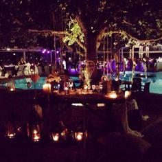 wedding decoration at Ktima Likno! we love CANDLES!!!!!!