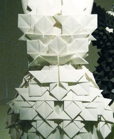 Origami folds and pleating ideas to replace the simpler folds of 1920's fashion.