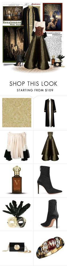 """""""Renaissance Romance"""" by prettyasapicture ❤ liked on Polyvore featuring Zoffany, Thea Porter, Chloé, Alex Perry, Clive Christian, Altuzarra, Masquerade and Balmain"""