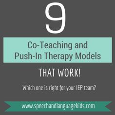9 Co-Teaching and Push-In Therapy Models that Work