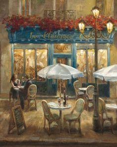 "Paris Cafe I Art Print 16""x20"""