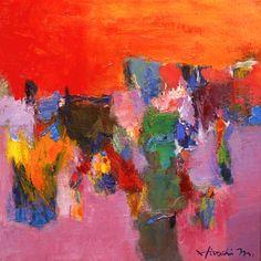 Tu recepcja - Original Abstract Oil Paintingsby Hiroshi...