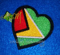 Guyana Flag Hair Clip by AEMembroidery on Etsy