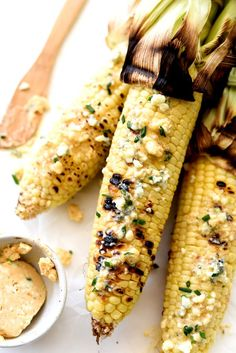 Grilled Corn with Spicy Buffalo Butter