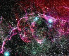 The Vela Supernova Remnant, located near the Vela Pulsar in the constellation Vela.