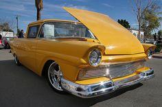 1957 ford ranchero | 1957 Ford Ranchero - custom - yellow - 429