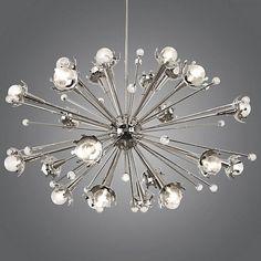 Jonathan adler mini sputnik chandelier chandeliers ceilings and shown in polished nickel finish small size aloadofball Gallery