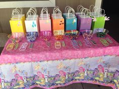 My little Pony favor bags with cutie marks  Shutter Fly Apple Jack Rarity Rainbow Dash Twilight Sparkle Pinkie Pie  Spike (for the boys)