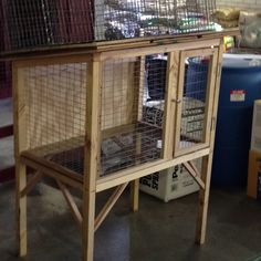 This looks like the one I made for chickens. A few adjustments and maybe it's an outdoor hutch for my bunny with caged grass time below!